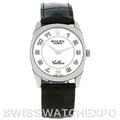 Rolex Cellini Danaos 4233 18k White Gold Mens Watch SwissWatchExpo