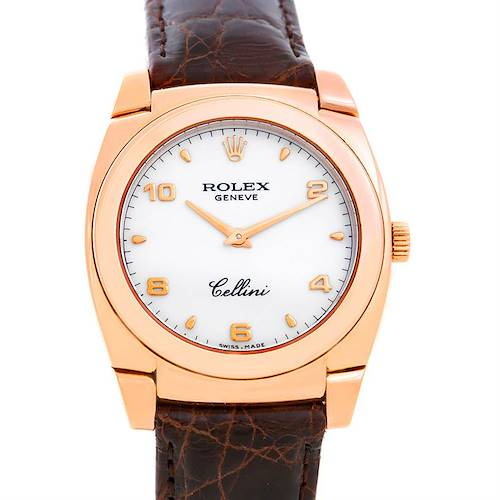 Photo of Rolex Cellini Cestello 18K Rose Gold Watch 5320/5