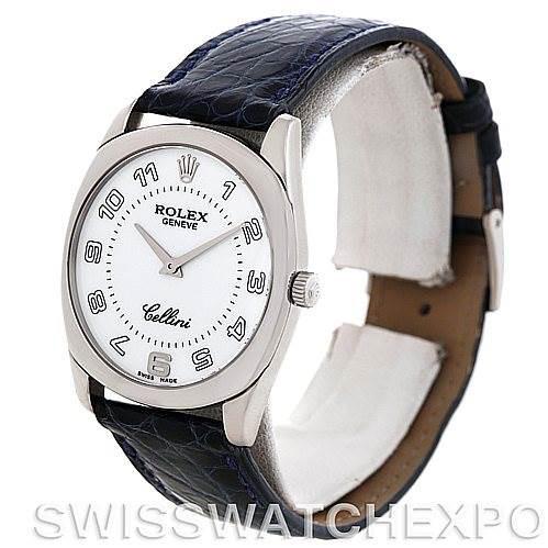 Rolex Cellini Danaos 4233 18k White Gold Mens Watch SwissWatchExpo