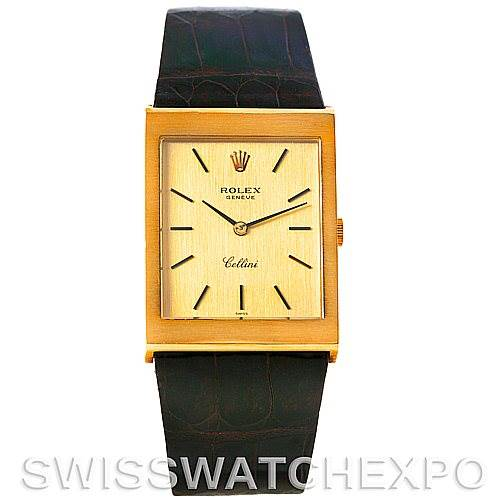 Rolex Cellini Vintage 18k Yellow Gold Watch 4027
