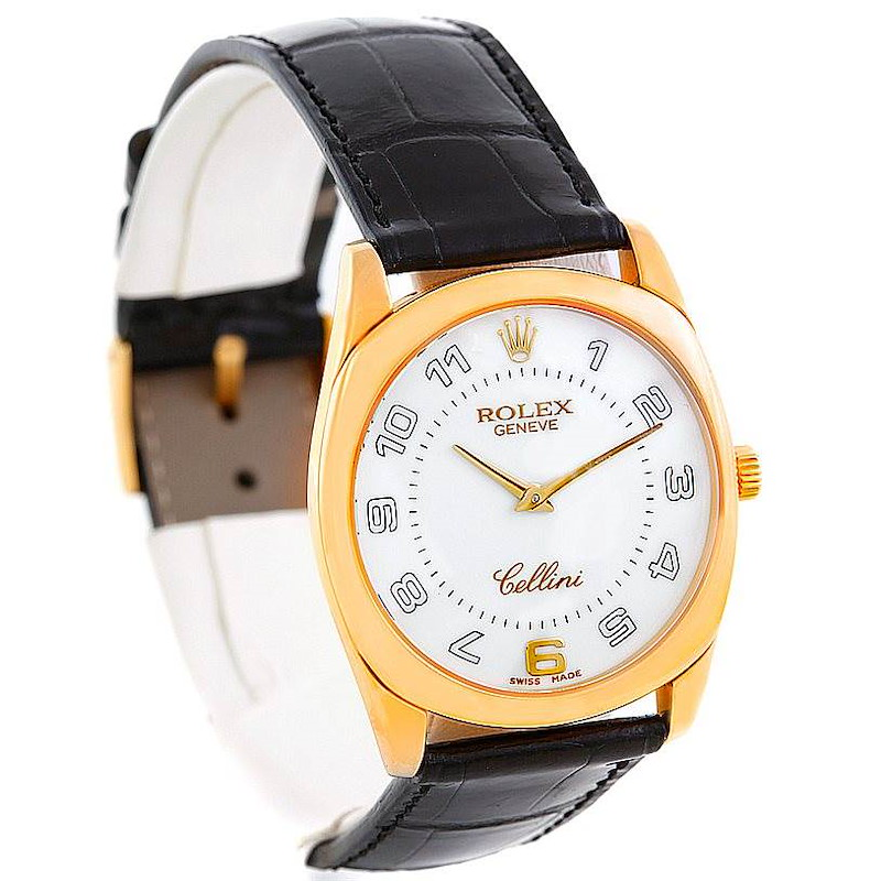 Rolex Cellini Danaos 4233 18k Yellow Gold Mens Watch SwissWatchExpo