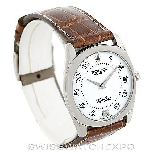 Rolex Cellini Danaos 4233 18k White Gold Mens Watch Unworn SwissWatchExpo