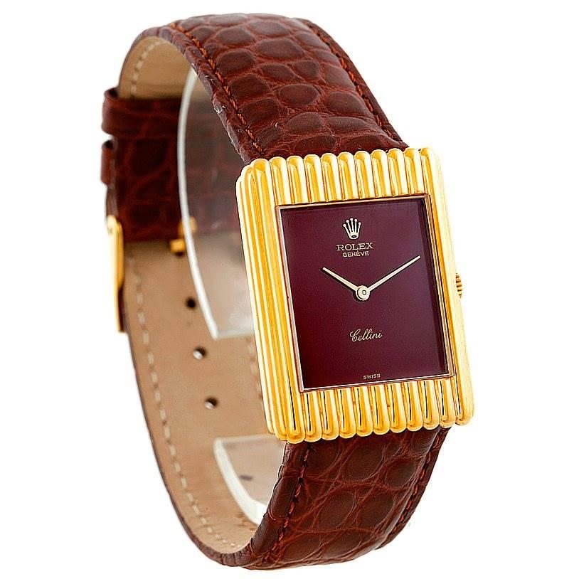 Rolex Cellini Vintage 18k Yellow Gold Watch 4016