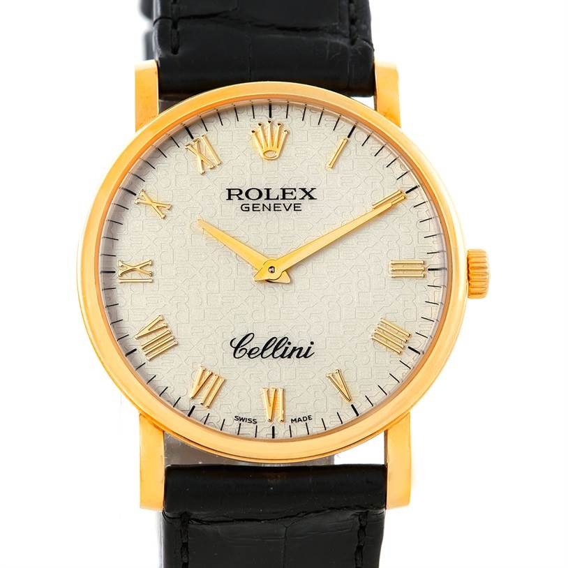 6978 Rolex Cellini Classic Mens 18K Yellow Gold Watch 5115 SwissWatchExpo