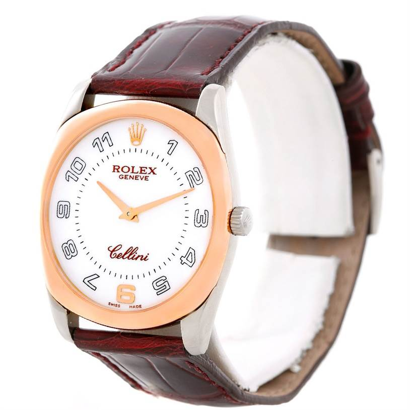 7040 Rolex Cellini Danaos 18k White and Rose Gold Watch 4233 Box Papers SwissWatchExpo