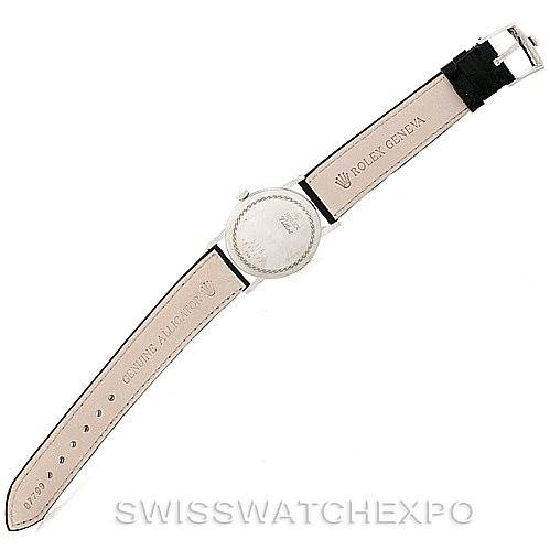 7114 Rolex Cellini Classic Mens 18K White Gold 5115 Watch SwissWatchExpo
