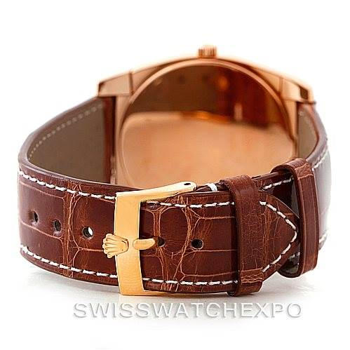 7289 Rolex Cellini Cestello 18K Rose Gold Watch 5330 SwissWatchExpo