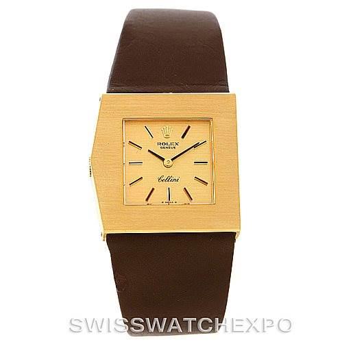 Rolex Cellini Midas Vintage 18k Yellow Gold Watch 4017 SwissWatchExpo