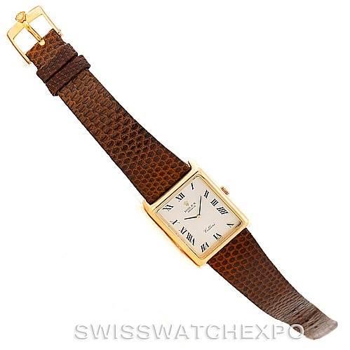 Rolex Cellini Vintage 18k Yellow Gold Silver Dial 4105 SwissWatchExpo