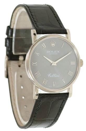 Rolex Mens 18k White Gold Cellini Classic 5115/9 SwissWatchExpo