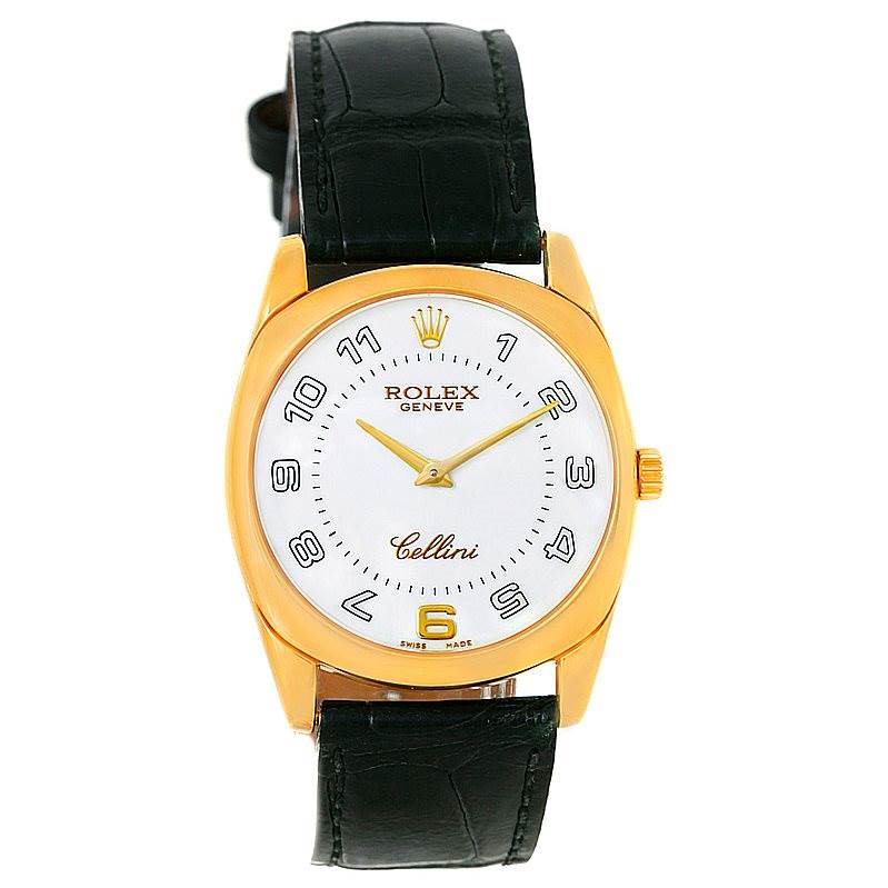 Rolex Cellini Danaos 18k Yellow Gold Mens Watch 4233 SwissWatchExpo