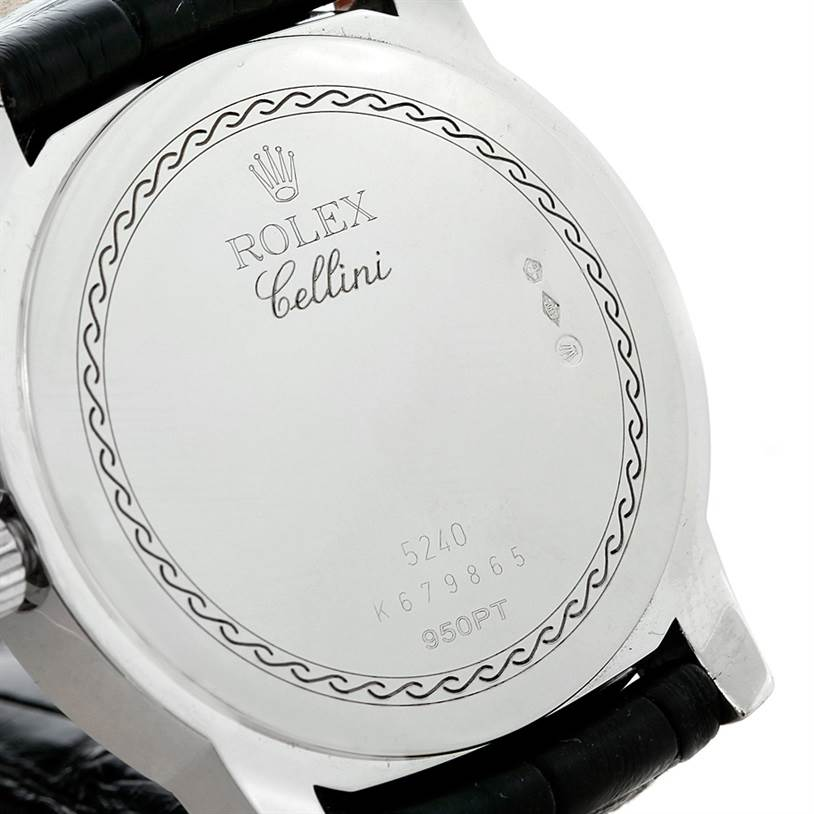 8318X Rolex Cellini Cellinium Platinum Mechanical Mens Watch 5240 SwissWatchExpo