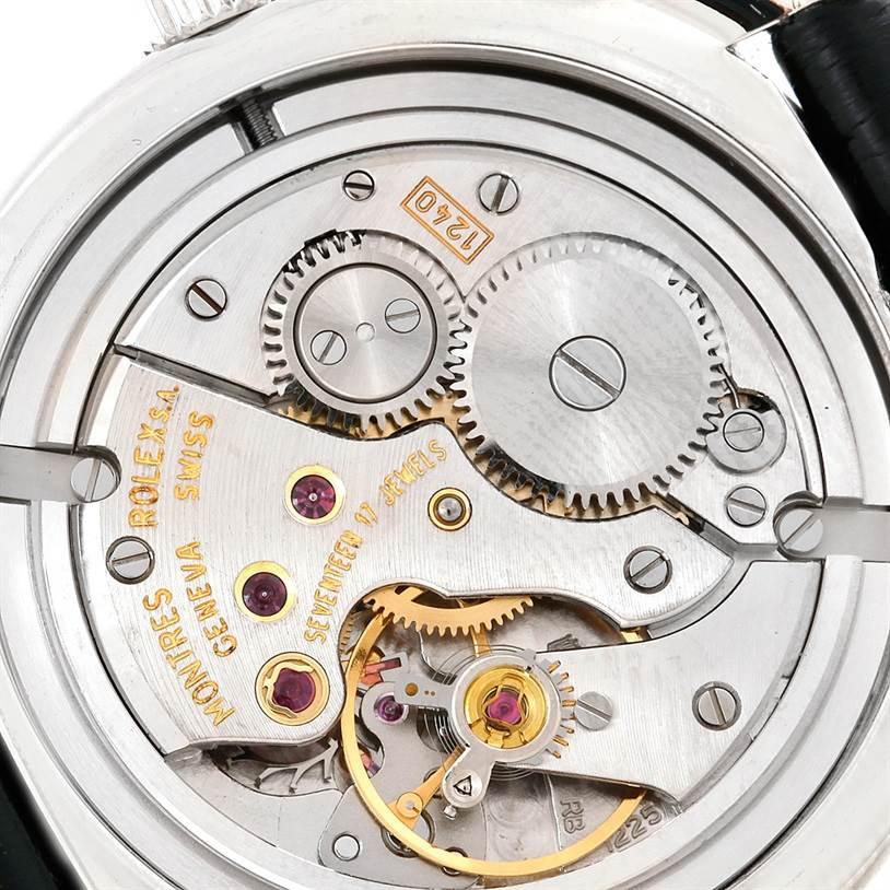 8318X Rolex Cellini Cellinium Platinum Mechanical Mens Watch 5240 SwissWatchExpo