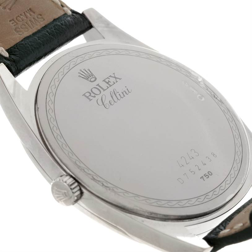 8645 Rolex Cellini Danaos 18k White Gold Watch 4243 SwissWatchExpo