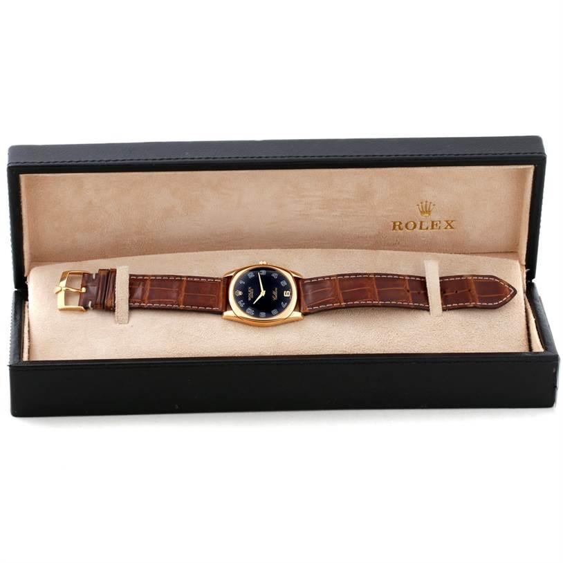 Rolex Cellini Danaos 18k Yellow Gold Mens Watch 4233 SwissWatchExpo