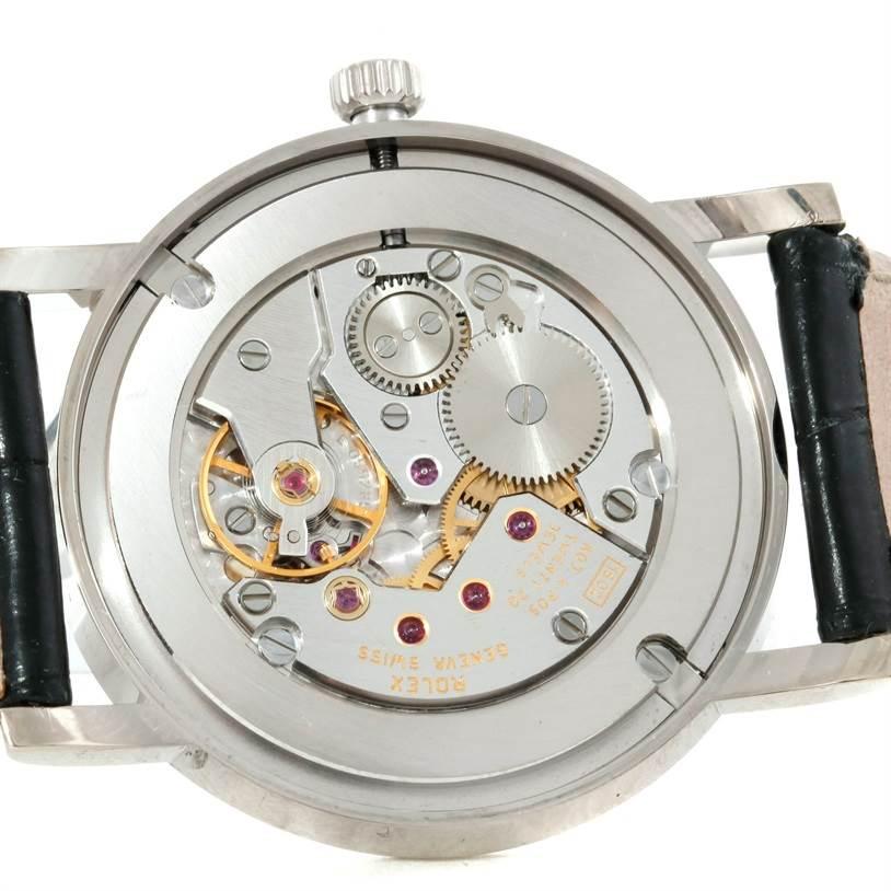 9013 Rolex Cellini Classic Mens 18K White Gold Watch 5115 SwissWatchExpo