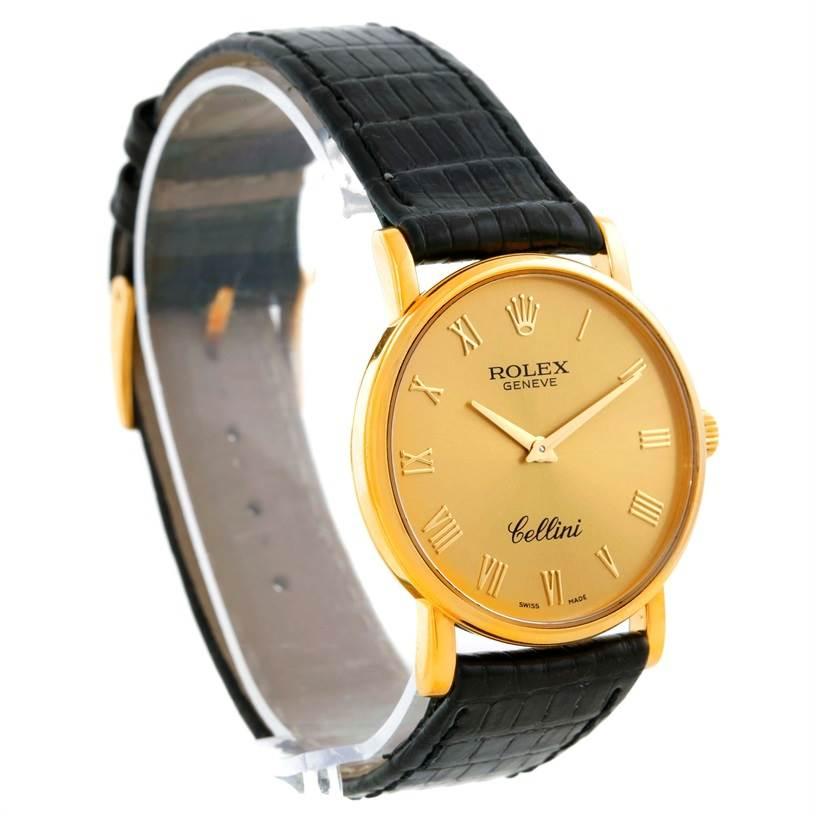 9539 Rolex Cellini Classic Mens 18K Yellow Gold Watch 5115 SwissWatchExpo