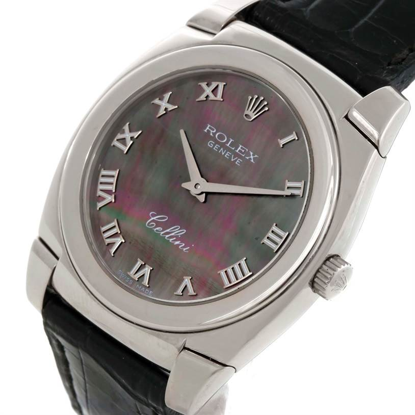 9576 Rolex Cellini Cestello 18K White Gold Mother Of Pearl Watch 5320 SwissWatchExpo
