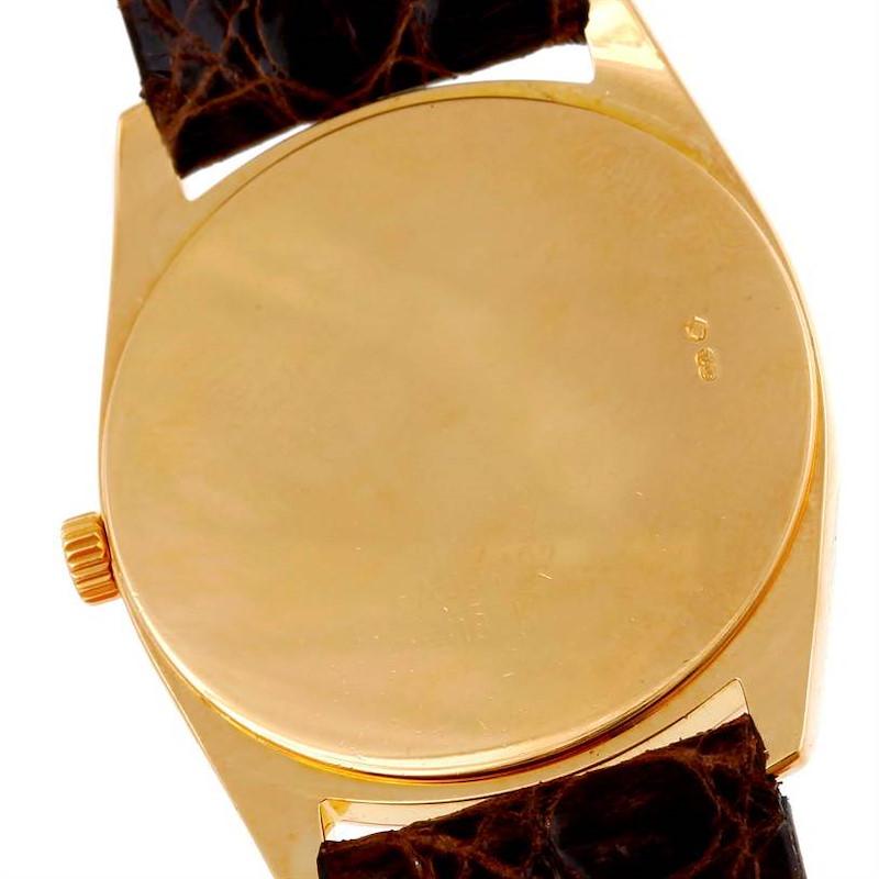 Rolex Cellini Danaos 18k Yellow Gold White Dial Mens Watch 4233 SwissWatchExpo