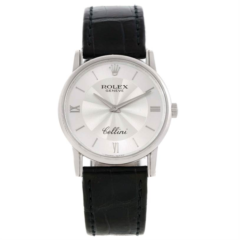 9841 Rolex Cellini Classic Mens 18K White Gold Watch 5116 SwissWatchExpo
