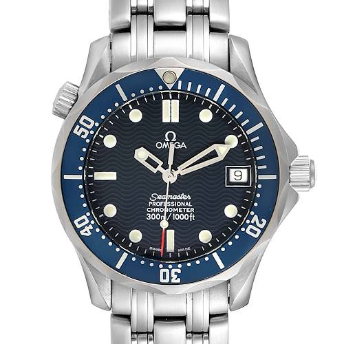 Photo of Omega Seamaster Midsize 36mm Blue Dial Steel Mens Watch 2551.80.00 Card