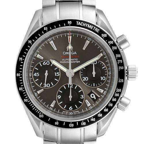 Photo of Omega Speedmaster Day Date Gray Dial Watch 323.30.40.40.06.001 Box Card