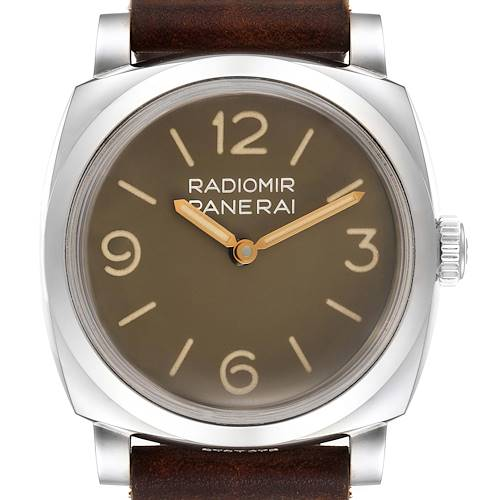 Photo of Panerai Radiomir 1940 47mm Brown Dial Steel Mens Watch PAM00662 Box Papers
