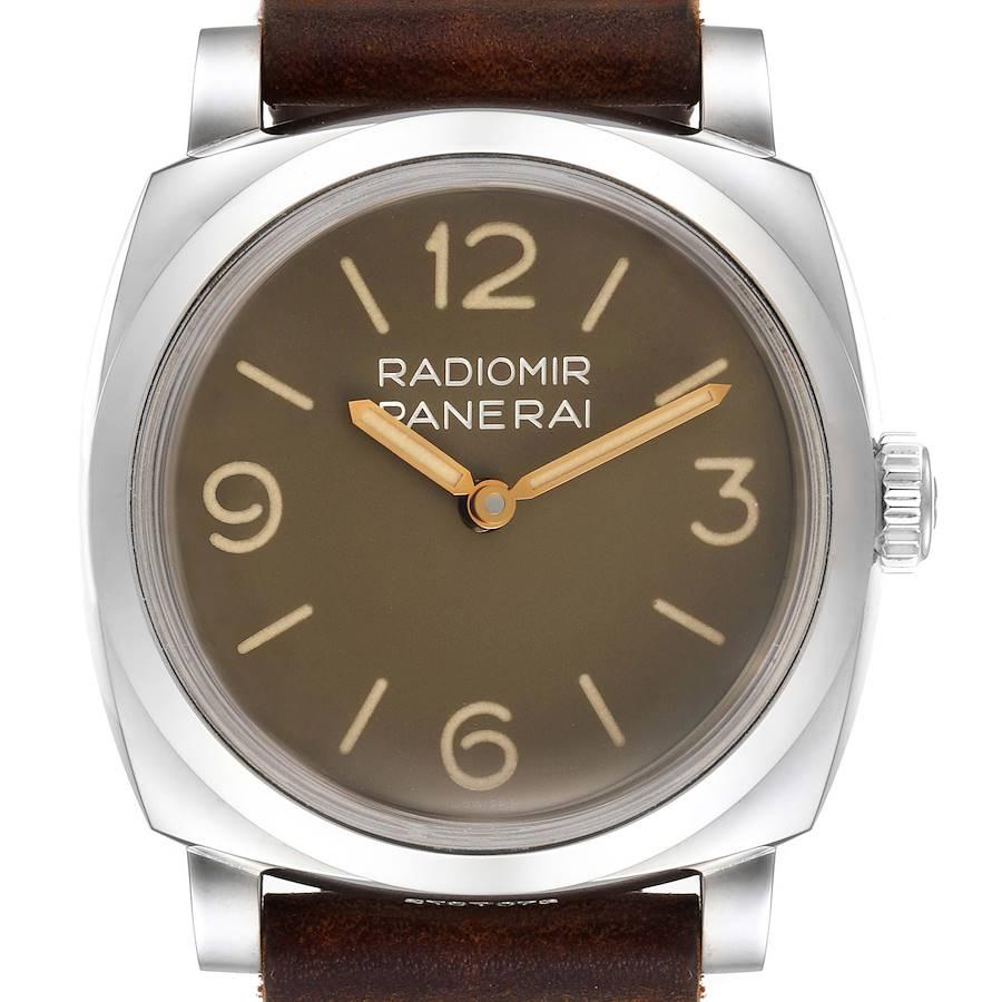 Panerai Radiomir 1940 47mm Brown Dial Steel Mens Watch PAM00662 Box Papers SwissWatchExpo