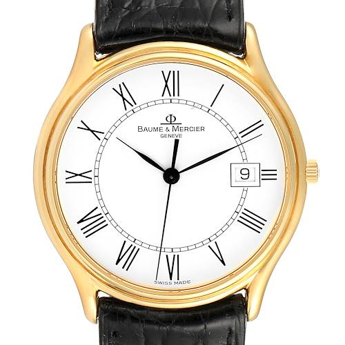 Baume Mercier Classima Ultra Thin 18K Yellow Gold Quartz Watch MV045236