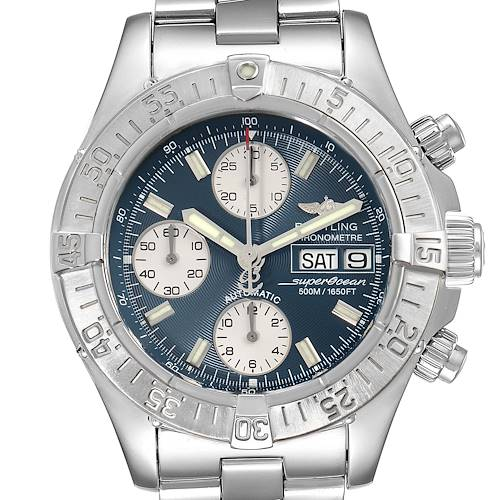 Photo of Breitling Aeromarine Superocean Blue Dial Steel Mens Watch A13340