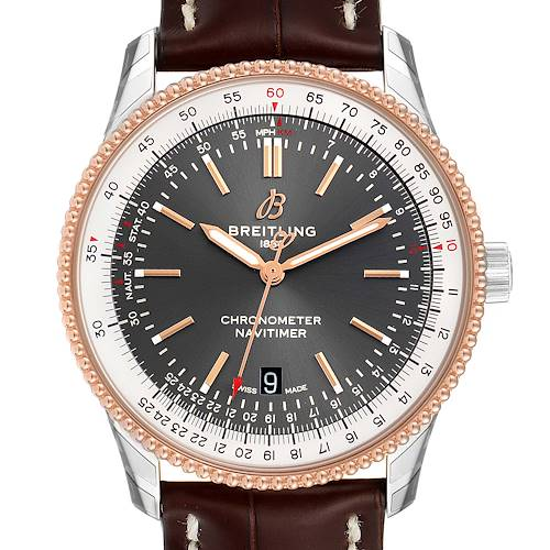 Photo of Breitling Navitimer 1 41mm Steel Rose Gold Mens Watch U17326 Unworn