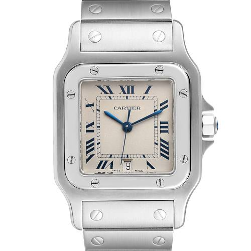 Photo of Cartier Santos Galbee Stainless Steel Silver Dial Unisex Watch 987901