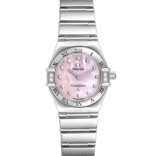 Photo of Omega Constellation Mini Pink MOP Diamonds Ladies Watch 1566.66.00