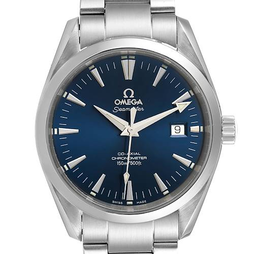 Photo of Omega Seamaster Aqua Terra Blue Dial Steel Mens Watch 2503.80.00 Card