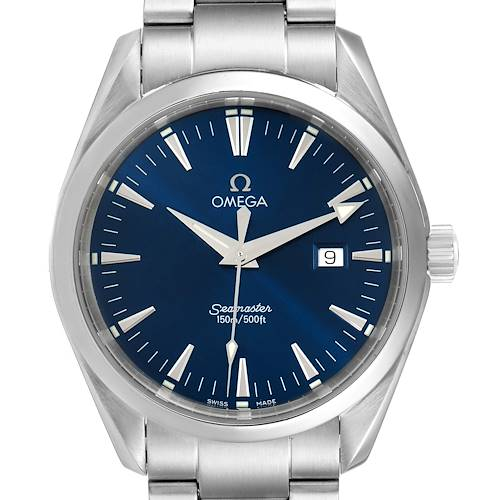 Photo of Omega Seamaster Aqua Terra Blue Dial Steel Mens Watch 2517.80.00