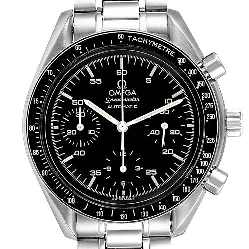 Photo of Omega Speedmaster Reduced Hesalite Crystal Mens Watch 3510.50.00