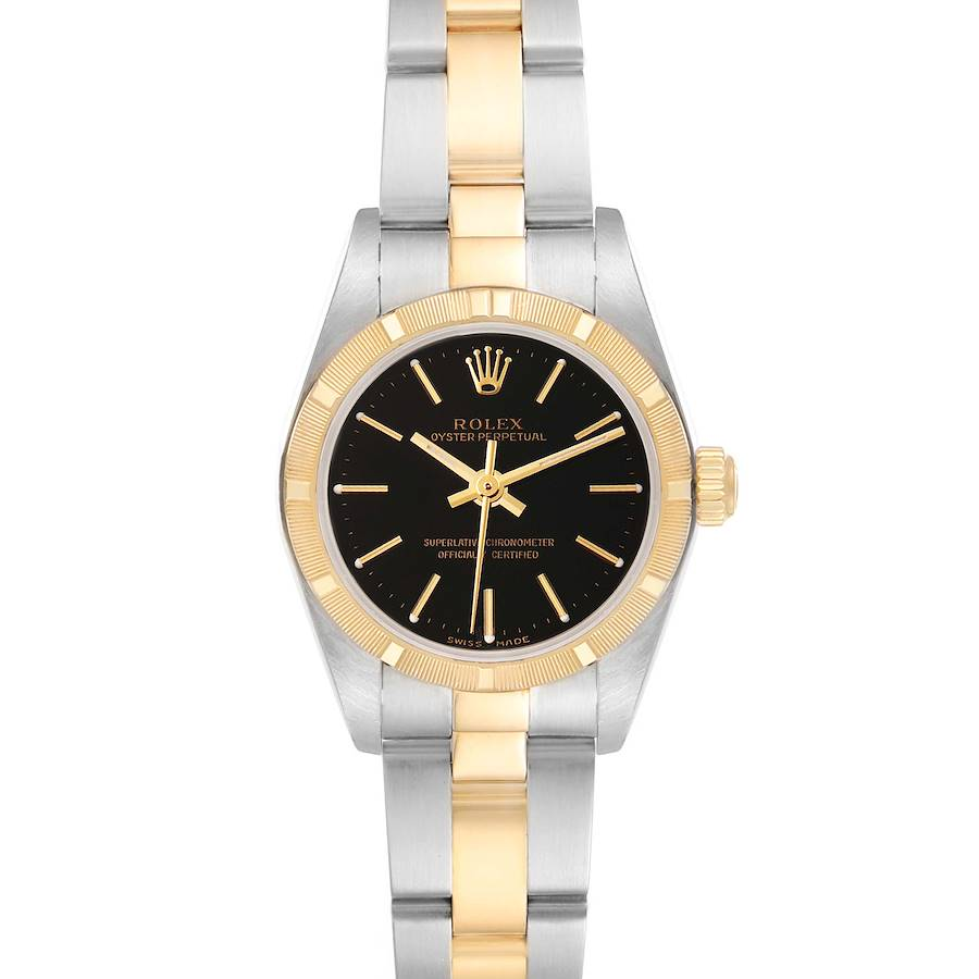 Rolex Oyster Perpetual Steel Yellow Gold Ladies Watch 76233 Box Papers SwissWatchExpo