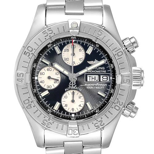 Photo of Breitling Aeromarine Superocean Chronograph Watch A13340 Box Papers