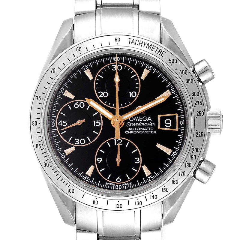 Omega Speedmaster Date Black Dial Special Edition Mens Watch 3211.50.00 SwissWatchExpo