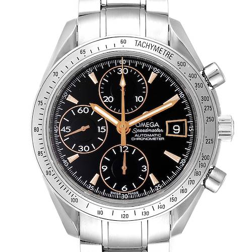 Photo of Omega Speedmaster Date Black Dial Special Edition Mens Watch 3211.50.00