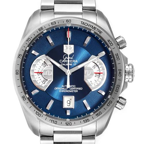 Photo of Tag Heuer Grand Carrera Blue Dial Limited Edition Watch CAV511F Box Card
