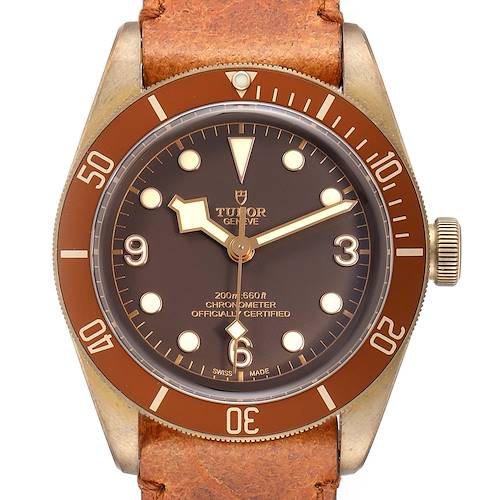 Photo of Tudor Heritage Black Bay Bronze Dial Mens Watch 79250 Box Card