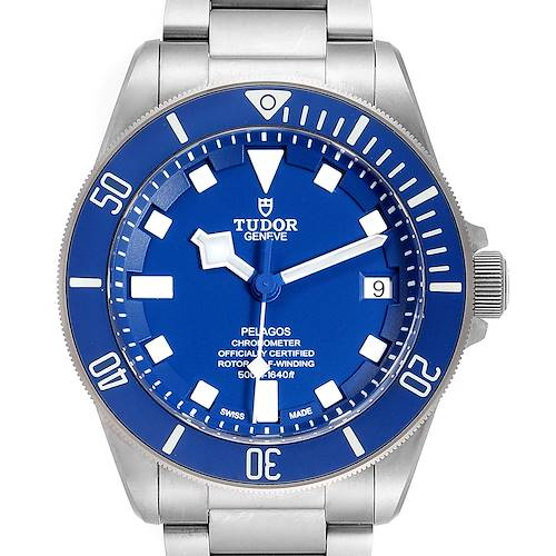Photo of Tudor Pelagos Blue Dial Automatic Titanium Mens Watch 25600 Box Papers