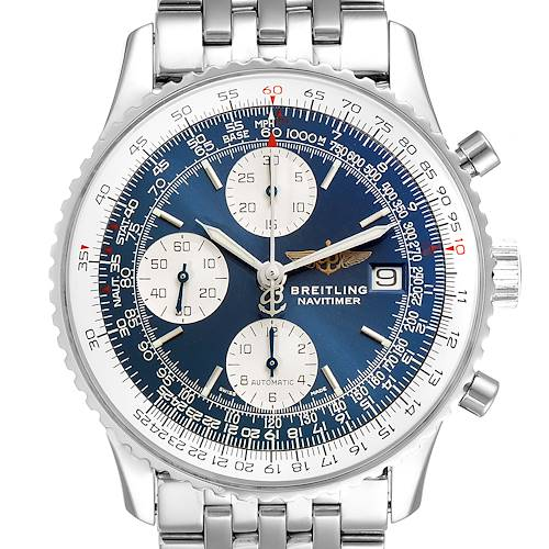 Photo of Breitling Navitimer II Blue Dial Chronograph Steel Mens Watch A13322