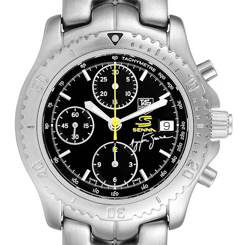Photo of TAG Heuer Link Steel Black Dial Chronograph Mens Watch CT2115 Box Card