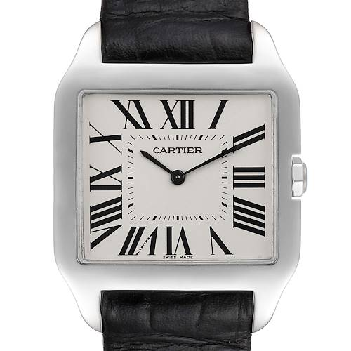 Photo of Cartier Santos Dumont Mens 18k White Gold Silver Dial Mens Watch W2007051