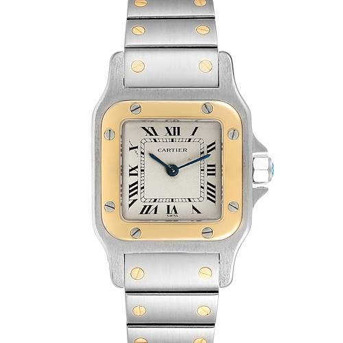 Photo of Cartier Santos Galbee Ladies Steel Yellow Gold Automatic Watch 166930
