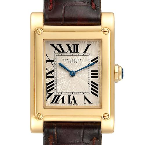 Photo of Cartier Tank A Vis Paris Privee Yellow Gold Mens Watch W1539951
