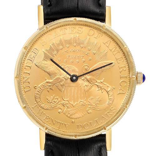 Photo of Baume Mercier 20 Dollars Double Eagle Yellow Gold Coin Automatic Mens Watch 1873