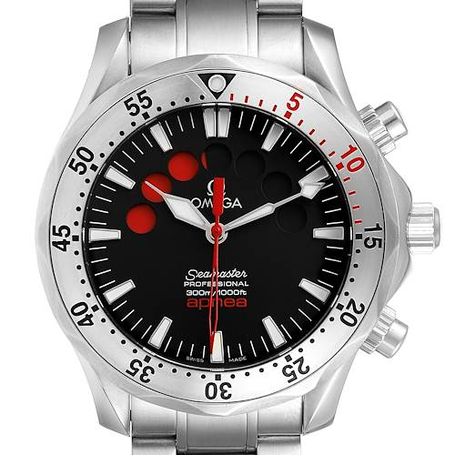 Photo of Omega Seamaster Apnea Jacques Mayol Black Dial Mens Watch 2595.50.00